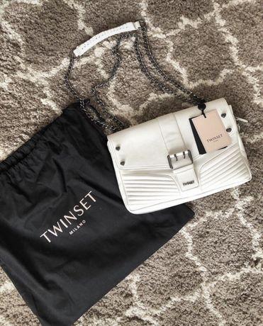 Nowa torebka Twin Set Tracolla skorzana twinset torba listonoszka