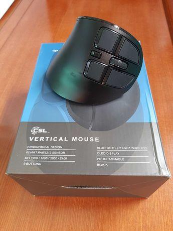 CSL Rato vertical ótico sem fios - 2,4 GHz e Bluetooth - NOVO