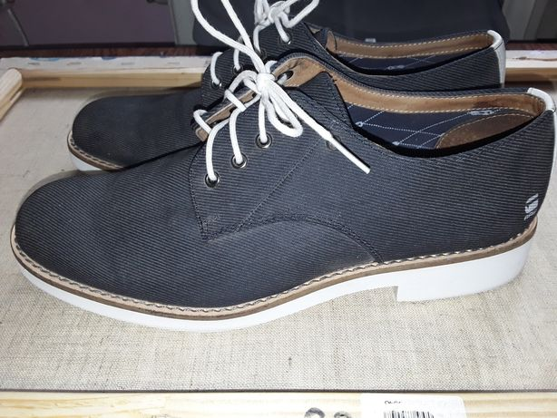 Спильные туфли, унисекс Белая подошва, серо-синий цвет.