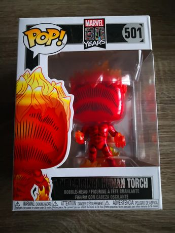 Funko POP! Oryginal Human Torch 501 Marvel 80s