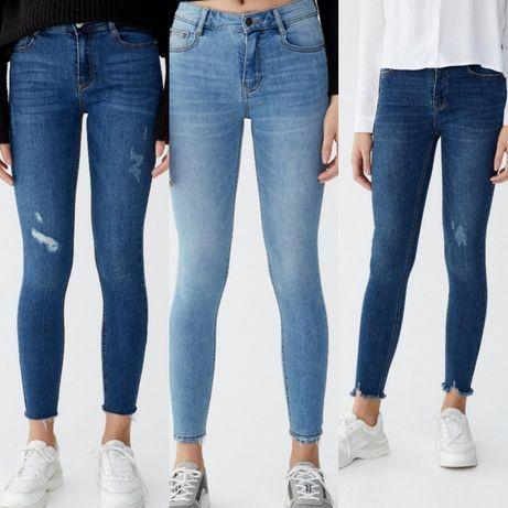 Nowe jeansy z metką pull&bear rozmiar 34 skinny mid WAIST