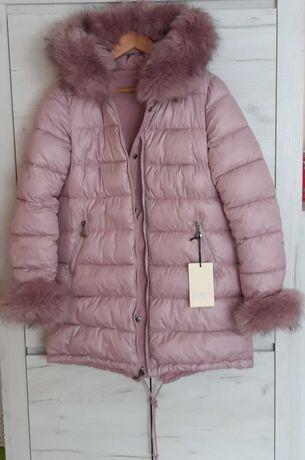 Nowa kurtka zimowa puchowa dwustronna M bardzo ciepła