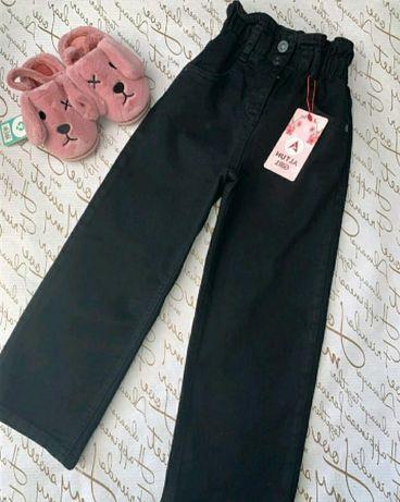 Джинсовые брюки палаццо