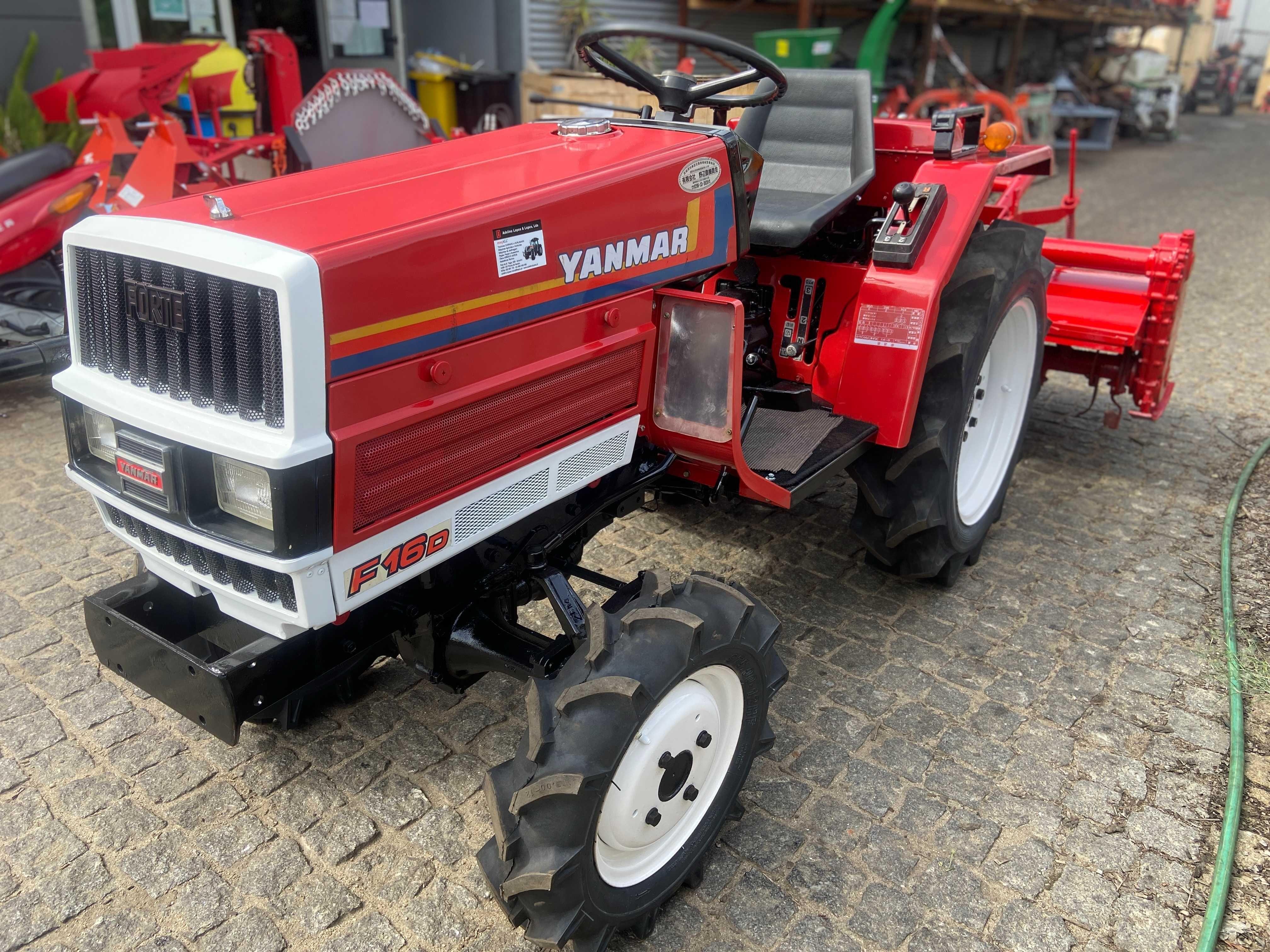 mini Trator yanmar tração 4 rodas com fresa