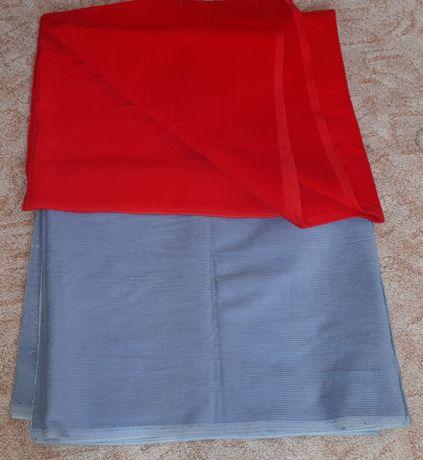 materiał sztruks nowy czerwony szary kupon tkanina