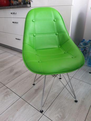 Krzesła tapicerowane, ekoskóra.