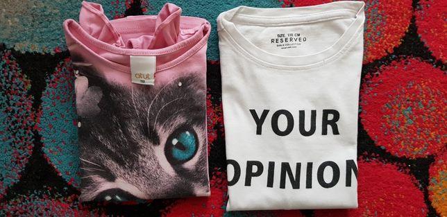 Bluzeczki t-shirt 2sztuki