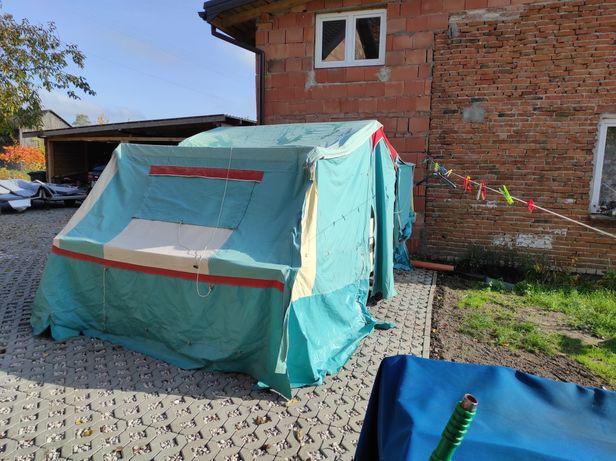 Przyczepa Kampingowa Camping namiot namiotówka 3 spania kuchnia