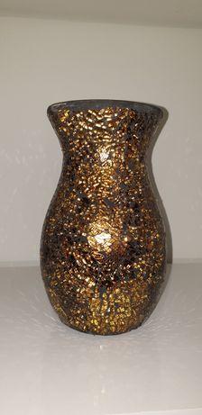 Vaso dourado em vidro