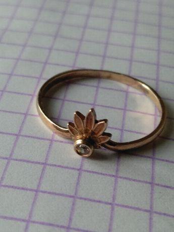 Кольцо серебро, позолота, новое, модель СССР, можно в подарок.
