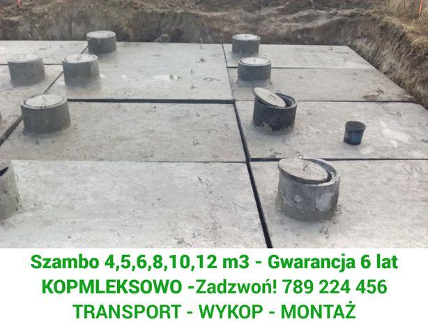 Szamba betonowe zbiorniki na szambo 4-12m z WYKOPEM kompleksowo Lusowo