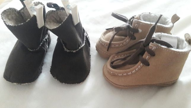 Новые теплые ботиночки пинетки угги GAP США 0-3 мес