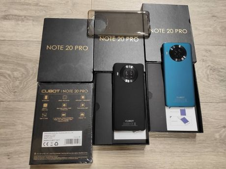 Смартфон Cubot Note 20 Pro Black Green 6/128GB,NFC, 4200 мА+чехол