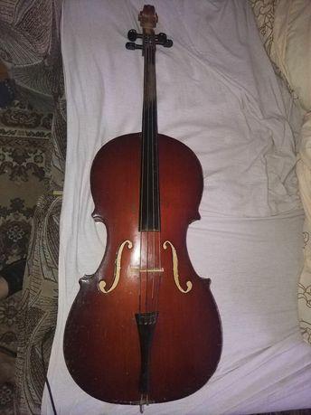 Віолончель, виолончель 3/4 радянського виробництва повний комплект