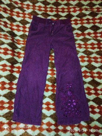 Вельветовые штаны на девочку (рост 128)