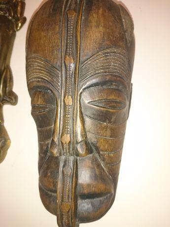 Rzeźba z hebanu. Antyk. Afryka. Wojownik.