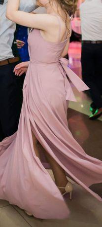 Piękna sukienka pudrowy róż rozmiar XS 34