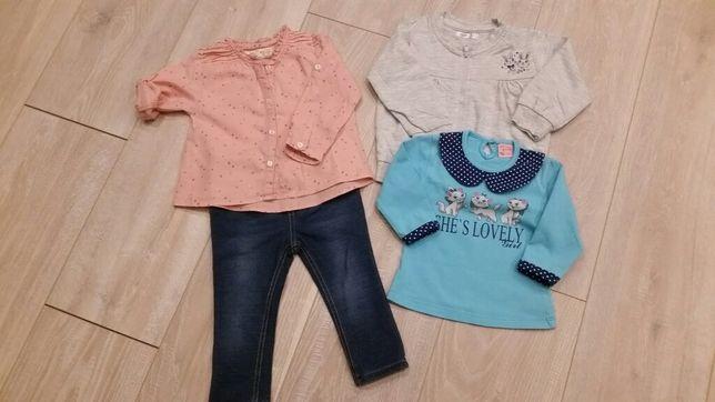 Zestaw r.80 spodnie bluzka H&M