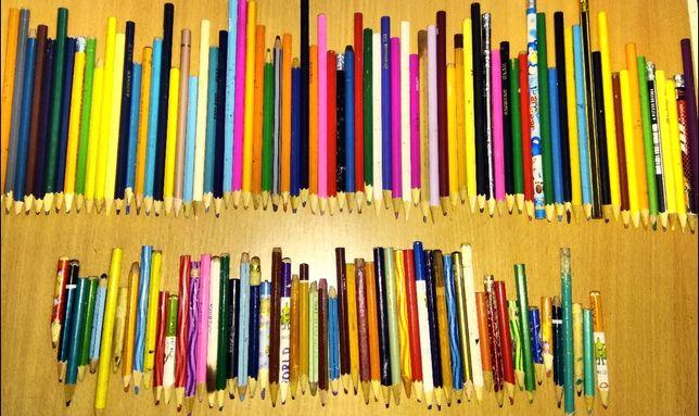 Великий канцелярний набір олівців резинка циркуль пензель лінійка
