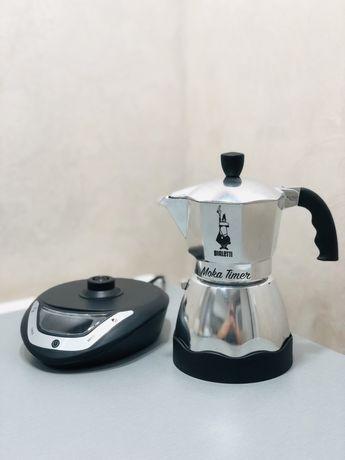 Електрична гейзерна кавоварка Bialetti Moka Easy Timer (300 мл)