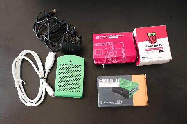 Raspberry Pi 4B 4GB RAM, 16GB karta, obudowa, HDMI