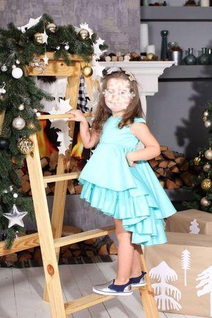 Платье Malyna волан мята (нарядное для фотосессии) 104-110 рост
