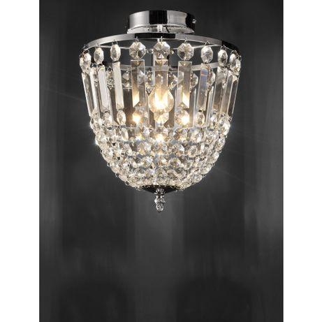 Elegancka lampa sufitowa kryształ chrom KAMEA Leuchten Direkt E14