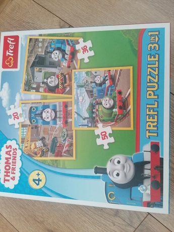 Puzzle Tomek i Przyjaciele ciuchcia pociągi 20,36,50 elementów 4+
