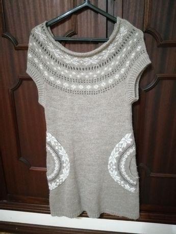 Tunica/vestido de malha