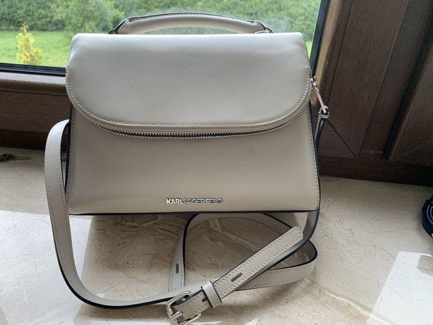 Torebka Karl Lagerfeld szara, stan idealny, cena nowej 1300zl, piękna!