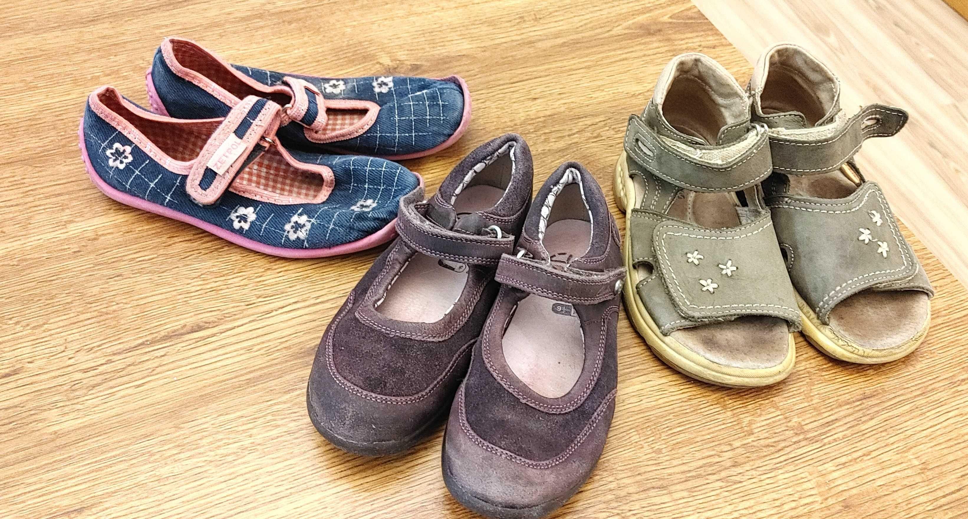3 pary butów w tym Clarks, Zetpol 18 cm