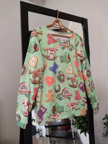 Śliczna bluza święta świąteczna pierniczki od Koko Swag print M 38