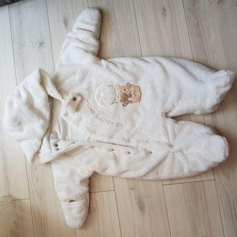 Kombinezon wiosenny biały St.Bernard newborn 0-3 m-ce