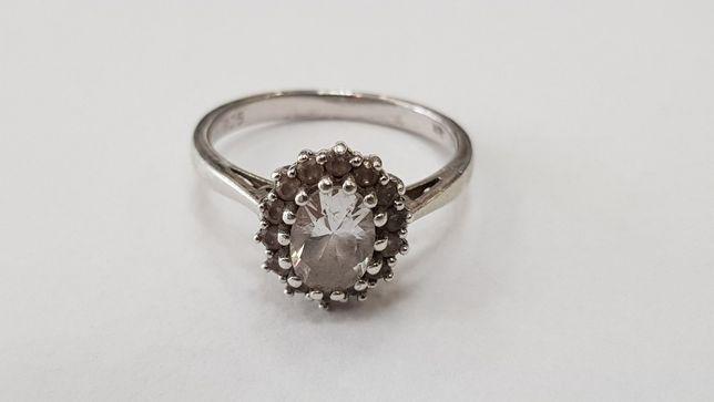 Kruk! Piękny srebrny pierścionek damski/ 925/ R12/ pełna dokumentacja