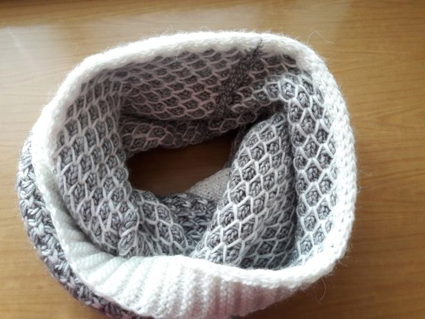 Снуд шарф хомут вязаный теплый РУЧНАЯ РАБОТА