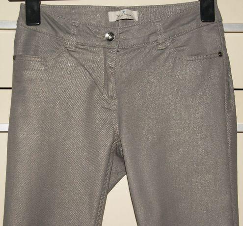 Spodnie damskie BLUE MOTION, 38, srebrnobeżowe, rurki