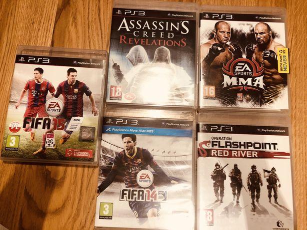 Gry playstation 3 Fifa15 Fifa14 Assassin's MMA Flashpoint