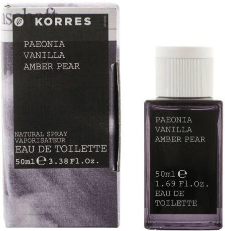 Органическая туалетная вода Korres Peonia Vanilla Amber Pear