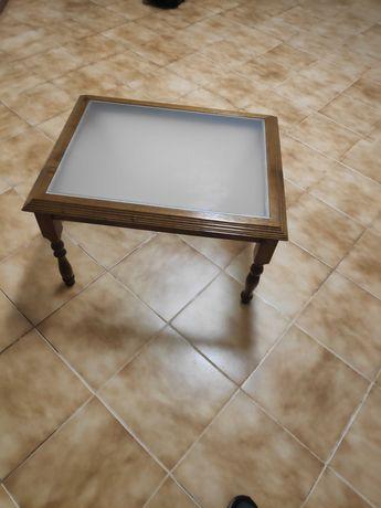 Mesa sala de estar com vidro