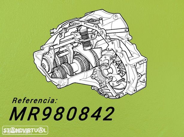 Caixa de Velocidades Reconstruida MITSUBISHI L200  2.5 Tdi de 2005 Ref: MR980842