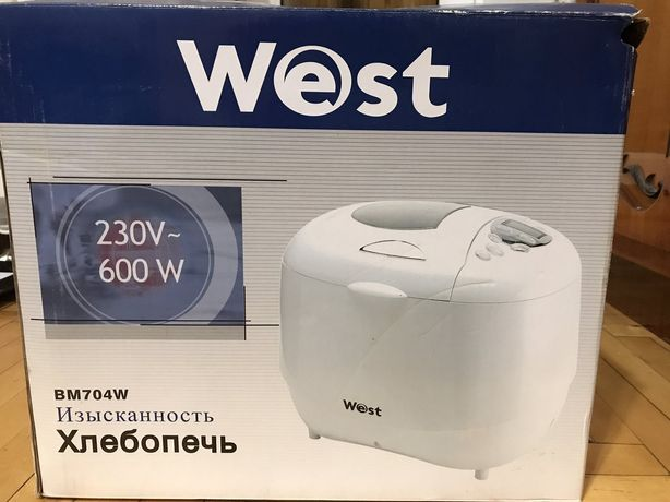 Хлебопечка West BM704W новая