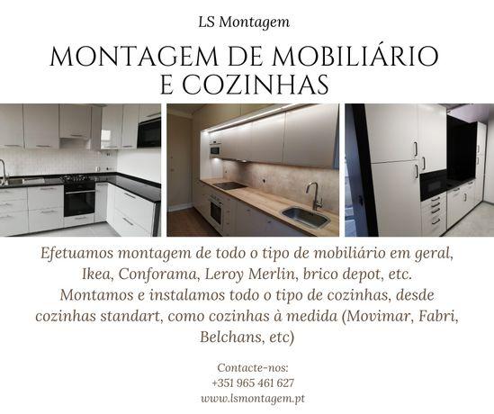 Montagem de cozinhas, mobiliario, roupeiros, Chão Flutuante