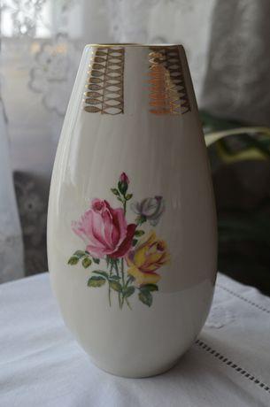 wazon flakon porcelana okres PRL róże