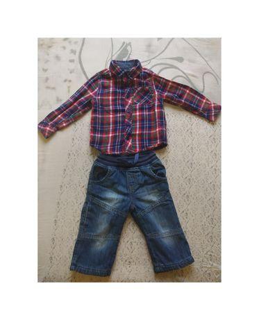 Скидка Сорочка джинси одяг на фотосесію на хлопчика на 12-18 місяців