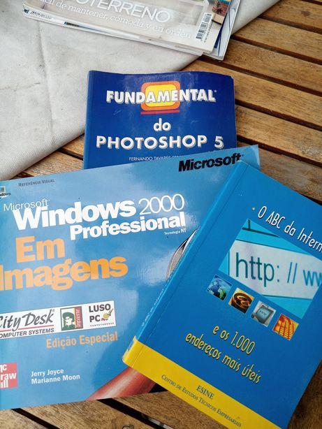 Vários livros Windows 2000 Photoshop ABC da internet