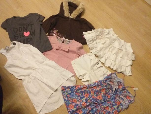 Zestaw 7 ubrań dla dziewczynki (Next, Tup Tup, Cool Club) rozm. 116 cm