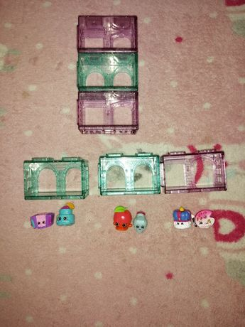 3 zestawy Shoppkins plus 3 domki
