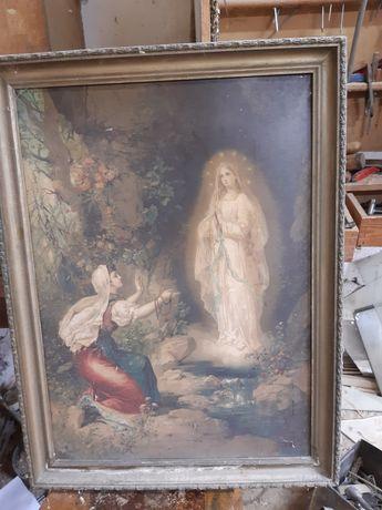 Obraz religijny obraz objawienie bardzo stary