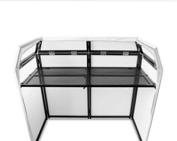 Stół dj Vonyx DB3 Pro DJ Booth Stand dla DJ'a z ekranem z lycry i stoł