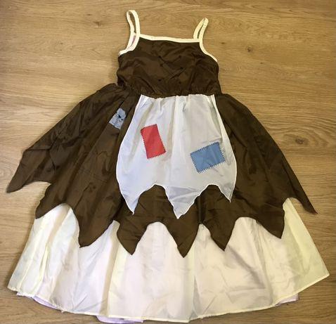 Карнавальное платье Золушка 2 в 1 до и после бала на 2-4 года